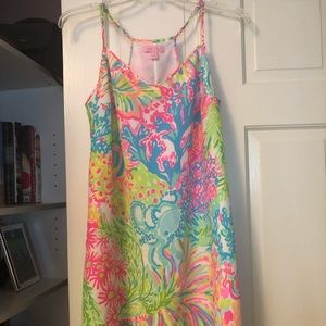 Lily Pulitzer Dusk Dress in Multi Lovers Coral